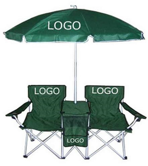 Folding beach chair with umbrella