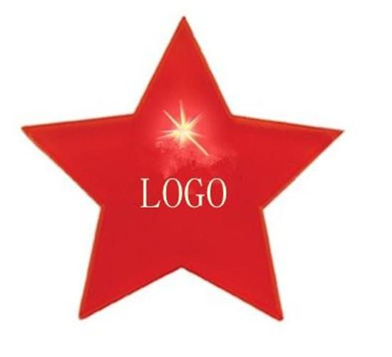 LED star shaped badge