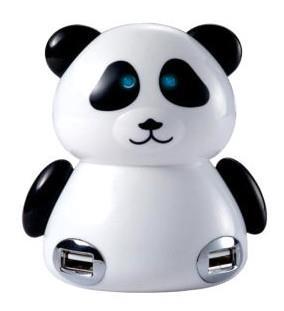 Panda shape usb 4 pot hub