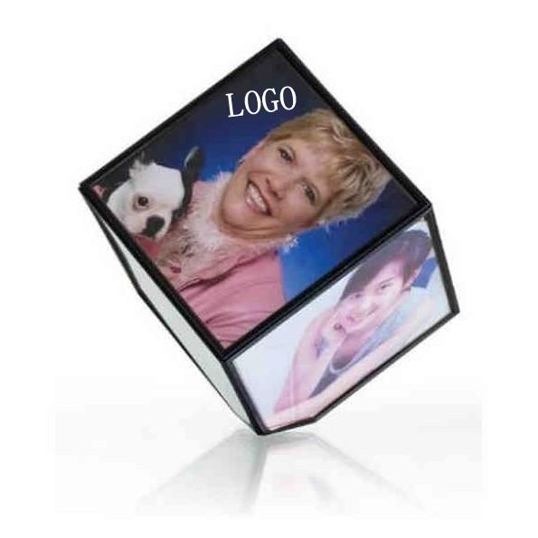 360 degrees Cube rotating photo frame