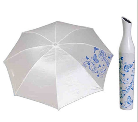 Umbrella with a vase shaped cover