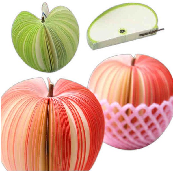 Apple shaped paper note pad