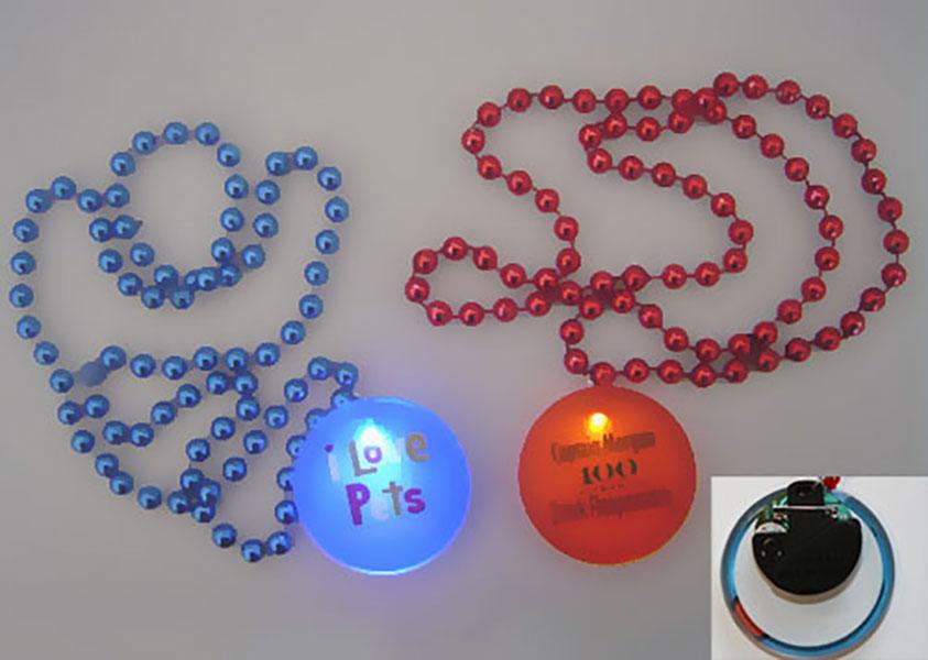Led light up Mardi Gras beads/ Necklace