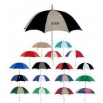 Metal Shaft with Wood Handle Golf Umbrella