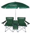 Folding beach chair with umbrella