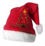 Short plush Christmas hat
