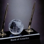 Global Pen Set With Crystal Globe
