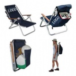 Backpack folding beach chair