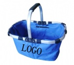 Foldable shopping basket