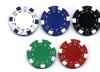 Poker chip with simple style