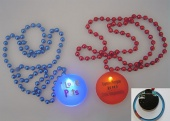 Led light up Mardi Gras beads/ Necklace