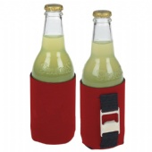 Neoprene can cooler with bottle opener